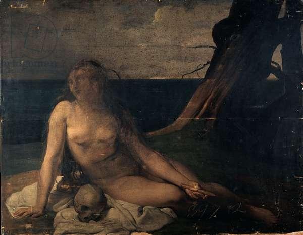 The Penitent Magdalene, 1833 (oil on panel)