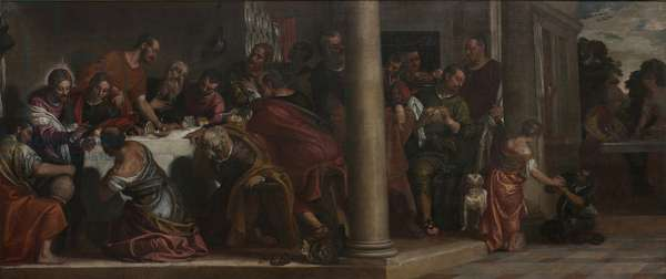 The Last Supper (Ultima Cena), by Paolo Caliari known as Paolo Veronese, 16th Century, oil on canvas, 220 x 523 cm