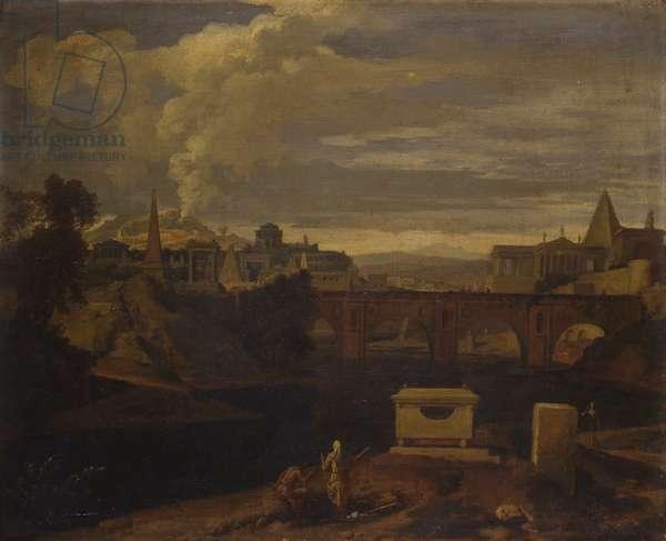Classical Landscape (Paysage classique), by Jean François Millet known as Francisque, 1673-1679, 17th Century, oil on canvas