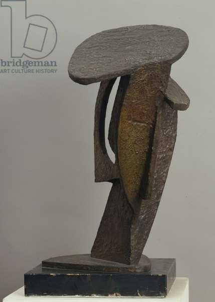 Head (Testa), by Aleksandr Archipenko, 1913, 20th century (bronze),