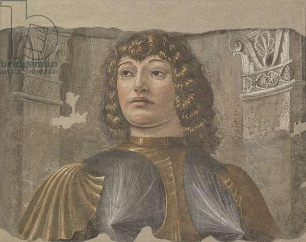 Men-at-Arms (Uomo d'arme) by Donato di Pascuccio di Antonio known as Bramante, 1480, 15th Century, ripped fresco, 90 x 113 cm