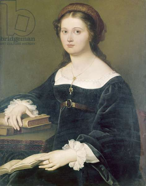 Portrait of Constance Perticari, by Filippo Agricola, 1821, 19th Century, oil on canvas, 91 x 71,8 cm