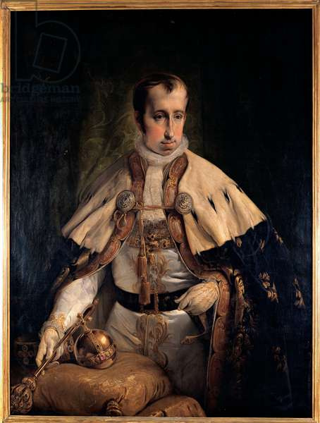 Portrait of Emperor Ferdinand I of Austria, 1840 (oil on canvas)
