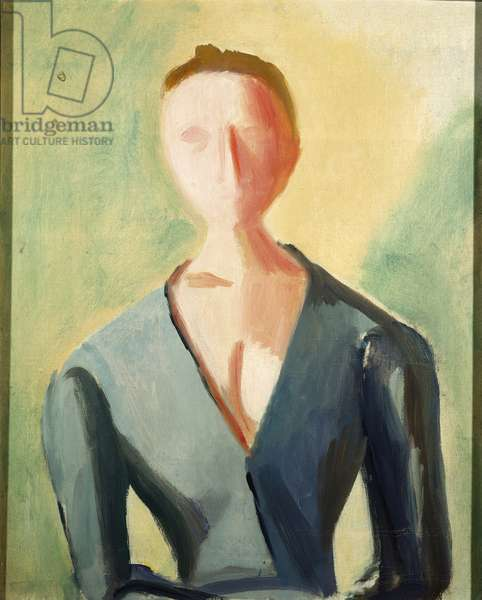 Figure of a Woman, by Virgilio Guidi, 1943, 20th Century, oil on canvas