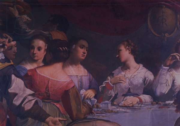 The wedding at Cana (Le nozze di Cana), by Carlo Bononi, begin of the 17th Century, oil on canvas