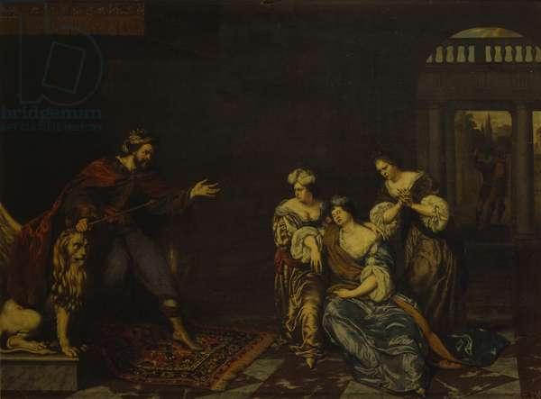 Esther and Ahasuerus, by Willem van Mieris, 17th - 18th century, oil on panel.