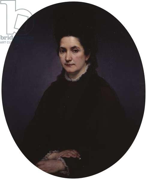 Portrait of Angiolina Rossi-Hayez, by Francesco Hayez, 1875, 19th Century, oil on canvas, 85 x 69 cm