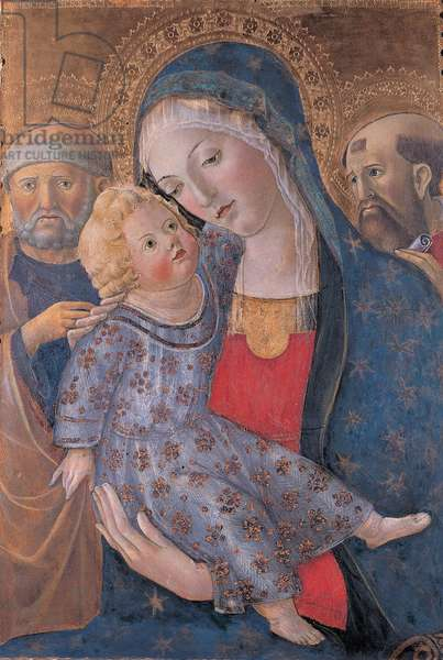 Madonna and Child with Sts Peter and Paul, 1466-69 (tempera and oil on panel)
