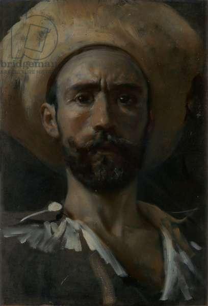 Self-portrait (Autoritratto), by Francesco Paolo Michetti, c. 1895, 19th Century, oil on canvas, 49 x 34 cm.