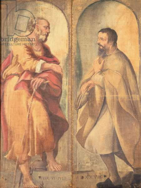 St Joseph and Donor, 1529 - 1529 (tempera on canvas)