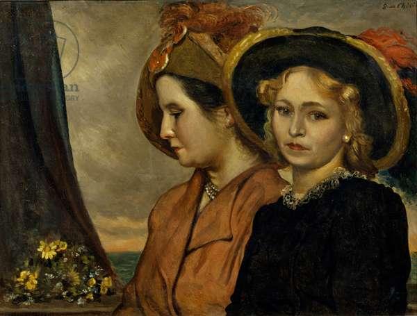 The Friends (Le amiche), by Giorgio De Chirico, 1940, 20th century (oil on canvas)