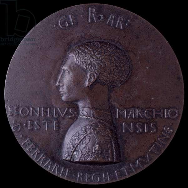 Lionello d'Este medal (Medaglia di Lionello d'Este), by Antonio of Puccio Pisano known as Pisanello, 1444, 15th Century, molten bronze, 101 cm