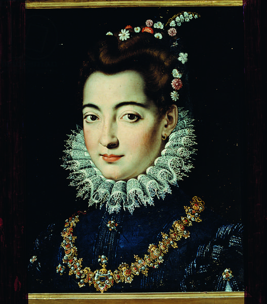 Portrait of a Dame, by Jacopo Zucchi, ca. 1570, 16th Century, oil on canvas, 49,5 x 37,8 cm