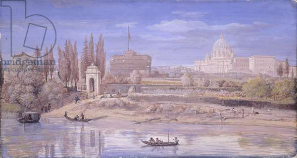 The Tiber at Prati di Castello, by Gaspar Van Wittel also known as Gaspare Vanvitelli, 1682, 17th Century, oil on canvas