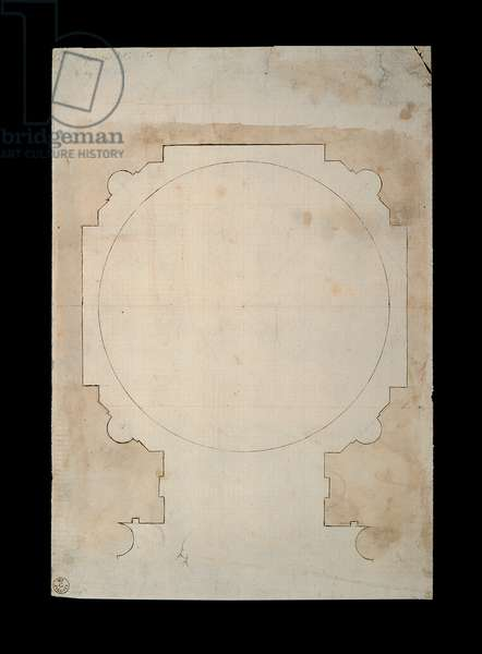 Plan of the Chigi Chapel, 1483 - 1520 (ink)