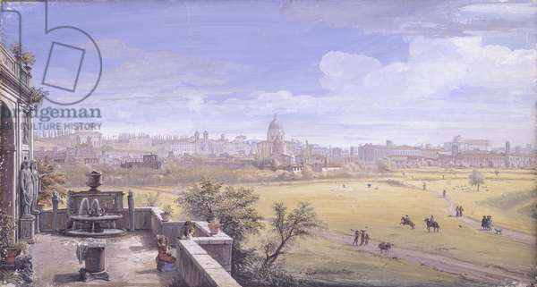 Campo Marzio from Prati di Castello, by Gaspar Van Wittel also known as Gaspare Vanvitelli, 1680, 17th Century, oil on canvas