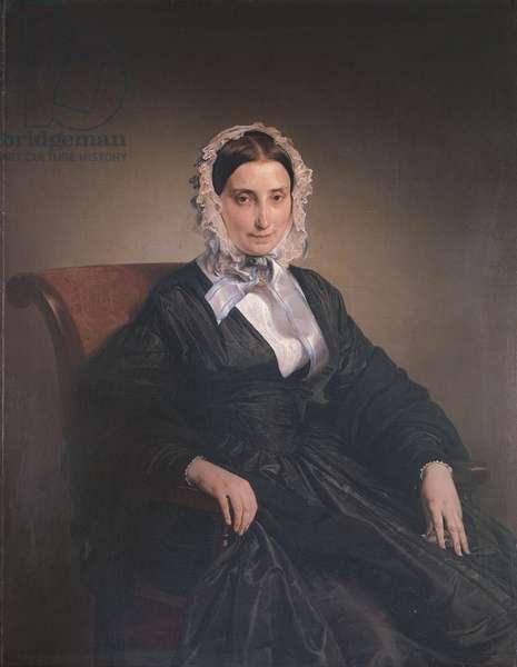 Portrait of Teresa Manzoni Stampa Borri (Ritratto di Teresa Manzoni Stampa Borri), by Francesco Hayez, 1849, 19th Century, oil on canvas, 117 x 92 cm