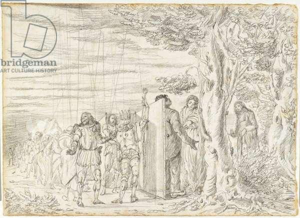 Entrance of the Gypsy (Entrata della zingara), by Giorgio De Chirico, 1922, 20th century (drawing on paper)
