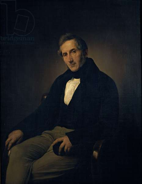 Portrait of Alessandro Manzoni, 1841 (oil on canvas)