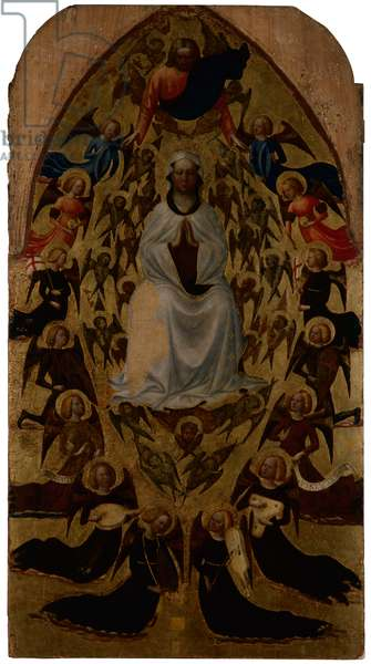 Assumption of the Virgin, by Tommaso di Cristoforo Fini known as Masolino da Panicale, c. 1428, 15th Century, tempera and oil on panel, 142 x 76 cm