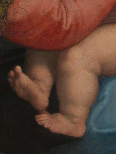 Madonna of the Chair, by Raffaello Sanzio, 1513 - 1514, 16th Century (oil on panel), cm 71 x 71 cm