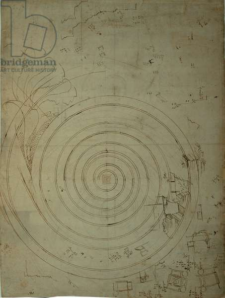 Detail studies for the southern ambulatory order of the St Peter's Basilica - Studies of Ionic volutes - Studies for Villa Madama, 1518 - 1519 (dark ink)