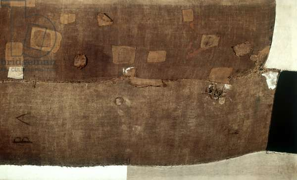 Big Sack (Grande Sacco), by Alberto Burri, 1952, 20th Century, cloth of sack painted and patched on frame