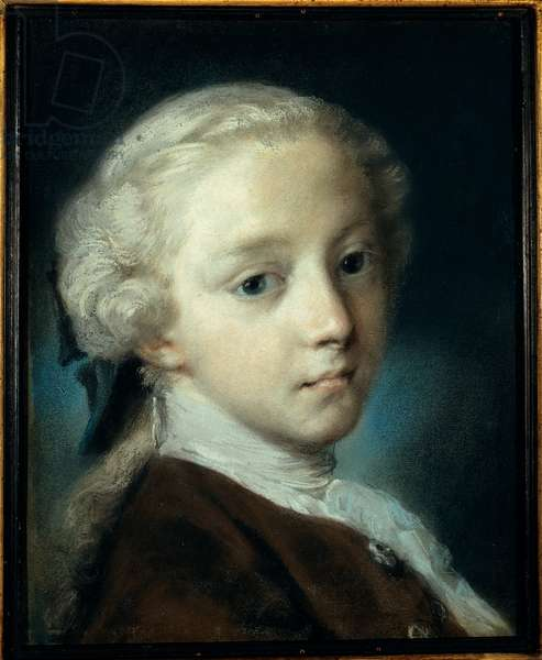 Portrait of a Young Man, 1726 (pastel on blue paper)