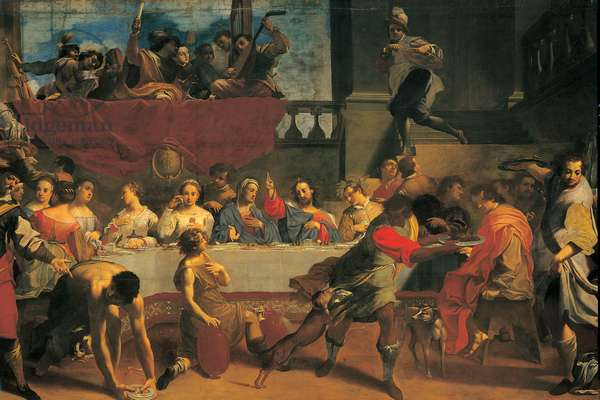 The Marriage at Cana, (oil on canvas)