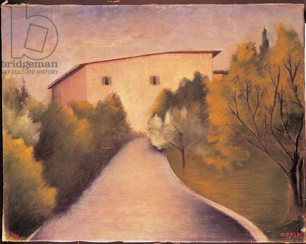 Tuscan House, 1919 (oil on canvas)
