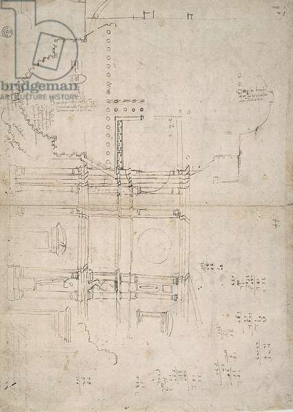 Copy of a study by Michelangelo for the facade of the San Lorenzo church (Final layout/design/plan),