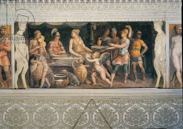 The Banquet of Dido and Aeneas, (fresco)