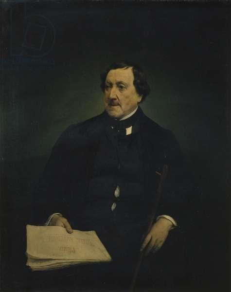 Portrait of Gioacchino Rossini, by Francesco Hayez, 1870, 19th century, oil on canvas, 109 x 87 cm.