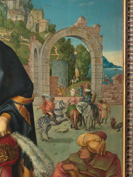 Adoration of the Magi, by Albrecht Durer, 1504, 16th Century (oil on fir panel), cm 100 x 114