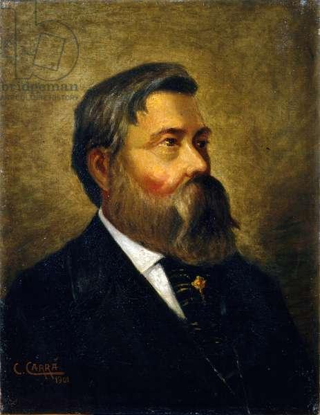 Portrait of Friedrich Engels (Ritratto di Friedrich Engels), by Carlo Carrà, 1901, 20th century (oil on canvas)