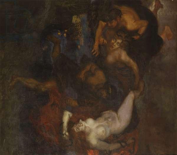 Orestes and the Erinyes (Oreste e le Erinni), by Franz Von Stuck, 1905, 20th century (oil on canvas) 229 x 227 cm