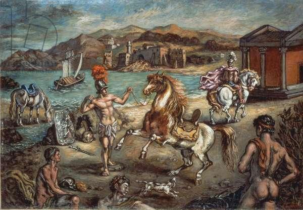 The Landing of Alexander (Lo sbarco di Alessandro), by Giorgio De Chirico, 1958, 20th century (oil on canvas)