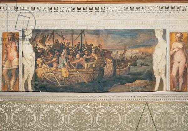 Aeneas' Ships Leaving, (fresco)