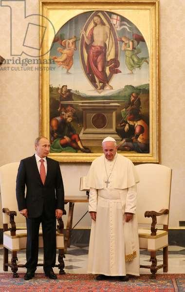 Pope Francis with Vladimir Putin (photo)