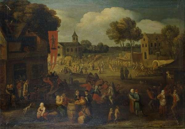 Summer Amusements or Kermesse, by Dutch artist, 16th century, oil on canvas.