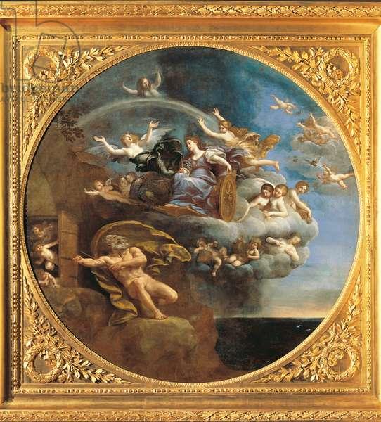 The Element of Air (L'Elemento dell'Aria), by Francesco Albani, 1625, 17th Century, oil on canvas, 180 cm diameter
