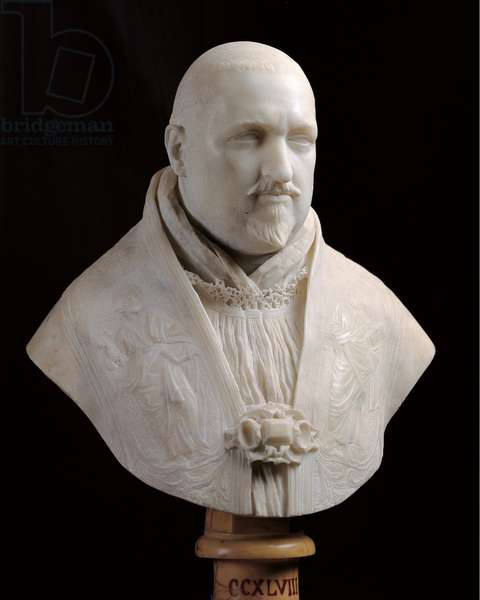 Bust of Pope Paul V, 1617 - 1618 (Carrara marble full relief)