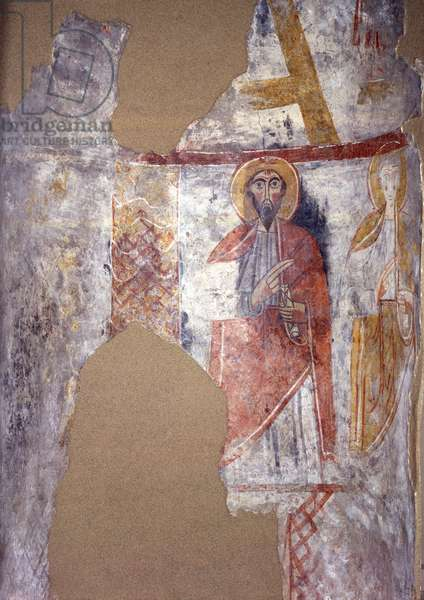Figures of Saints, by Unknown Artist, 11th Century, fresco