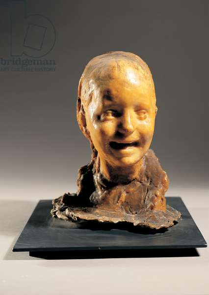 Petite Rieuse (Laughing Woman), (wax on plaster)