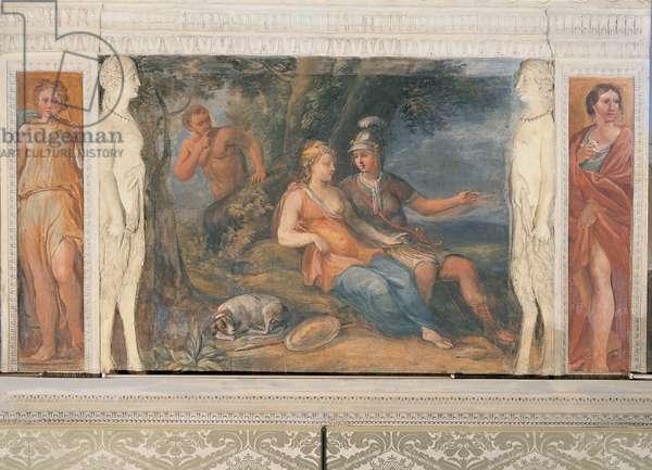 The Love Affair of Dido and Aeneas, (fresco)