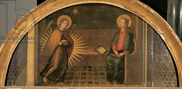 Annunciation, (oil on panel)