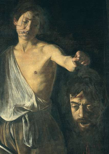 David with the Head of Goliath, 1609 - 1610 (oil on canvas)