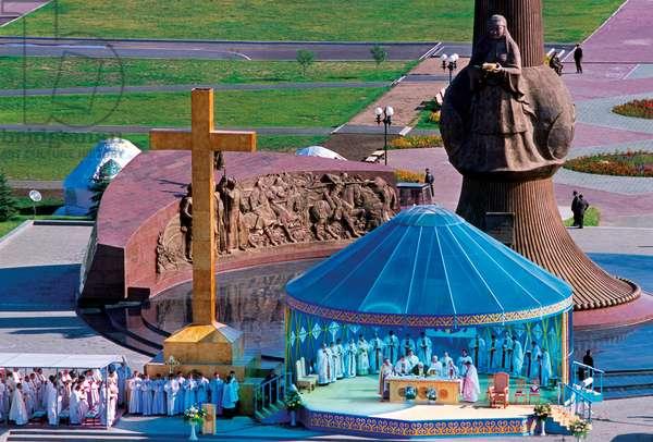 Pope John Paul II, Astana, Kazakistan, 2001 (photo)