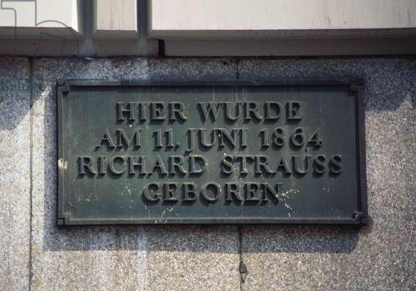 Richard Strauss' birthplace in
