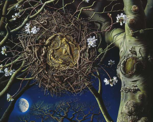 The Witching Hour, Detail 2, 2008 (oil on canvas)